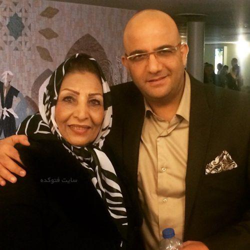 عکس مهدی صفایی و مادرش