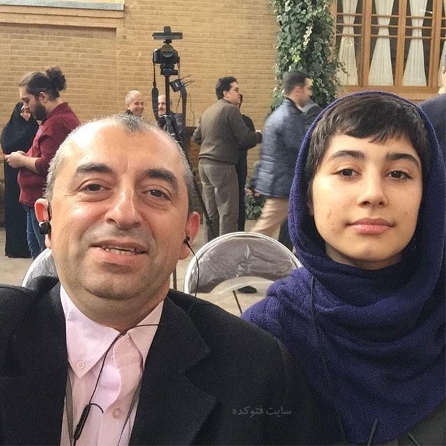 عکس هایمهدی زارعی زلزله شناس و دخترش ایران