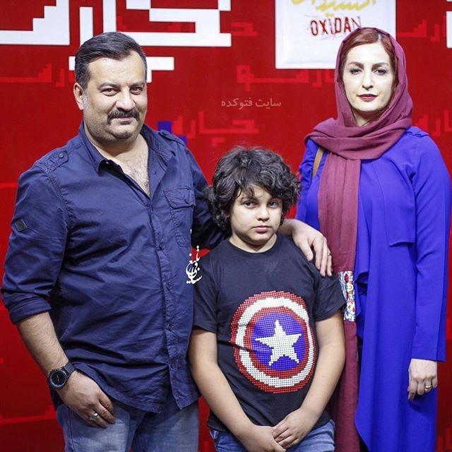 عکس مهراب قاسم خانی و همسرش شقایق دهقان و پسرش