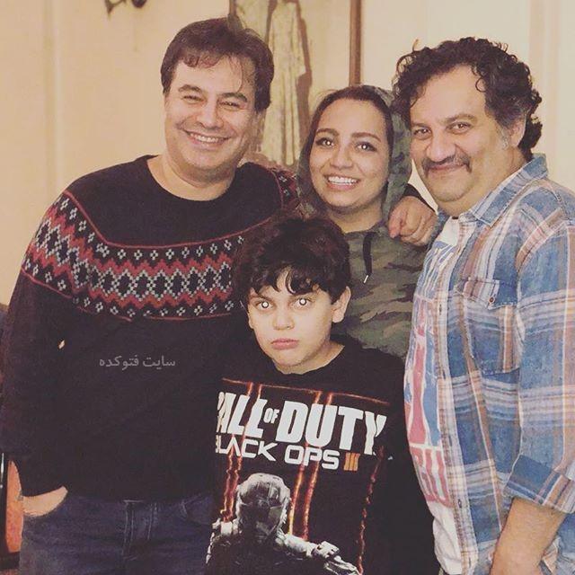 عکس مهراب قاسم خانی در کنار فرزندان و برادرش
