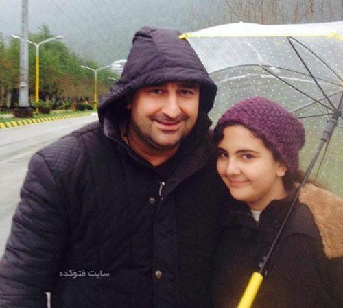 مهران احمدی و دخترش باران