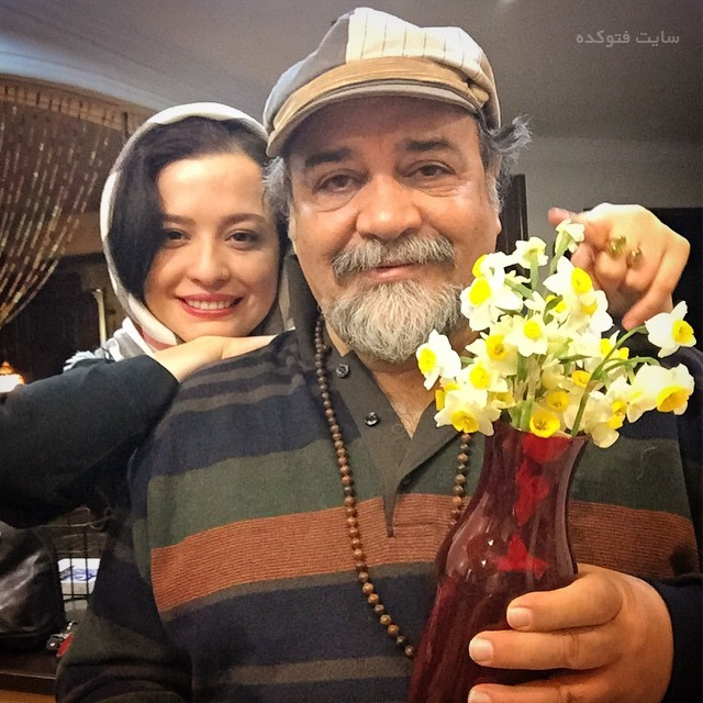 عکس مهراوه شریفی نیا و پدرش محمدرضا