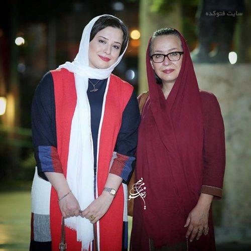 عکس مهراوه شریفی نیا و مادرش