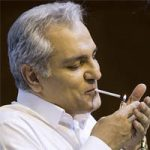 فیلم سیگار کشیدن مهران مدیری در نشست خبری