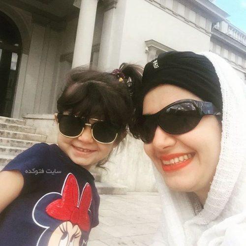 ملیکا زارعی و دخترش مانلی