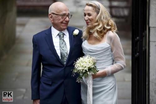 عکس های ازدواج چهارم روپرت مرداک,عکس مراسم ازدواج روپرت مرداک و جری هال مانکن آمریکایی,ازدواج چهارم مرداک آمریکایی,همسران روپرت مرداک,عکس همسر جدید مرداک