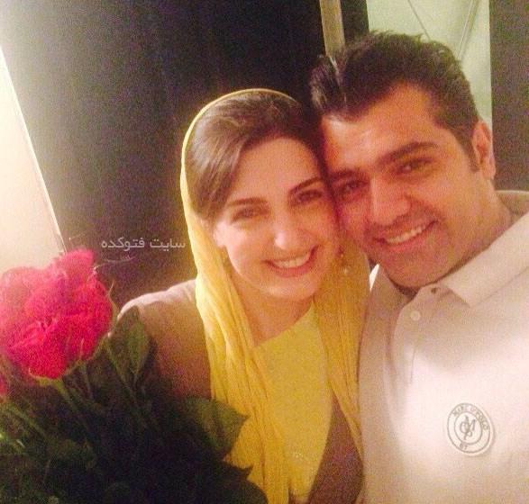 مریم شیرازی و همسرش محمد نفری