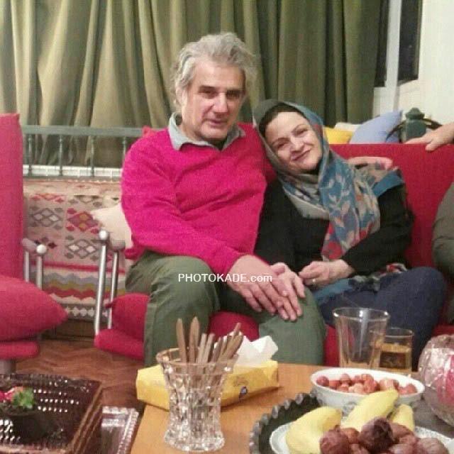 عکس گلاب آدینه در بغل همسرش مهدی هاشمی