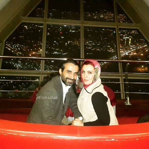 ماه چهره خلیلی و همسرش ابراهیم اشرفی