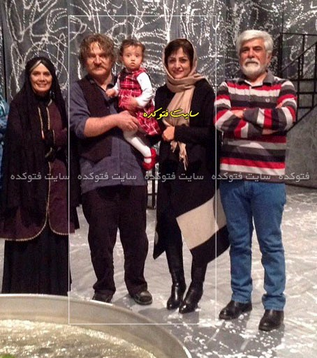 عکس مهدی سلطانی و همسرش + دخترش