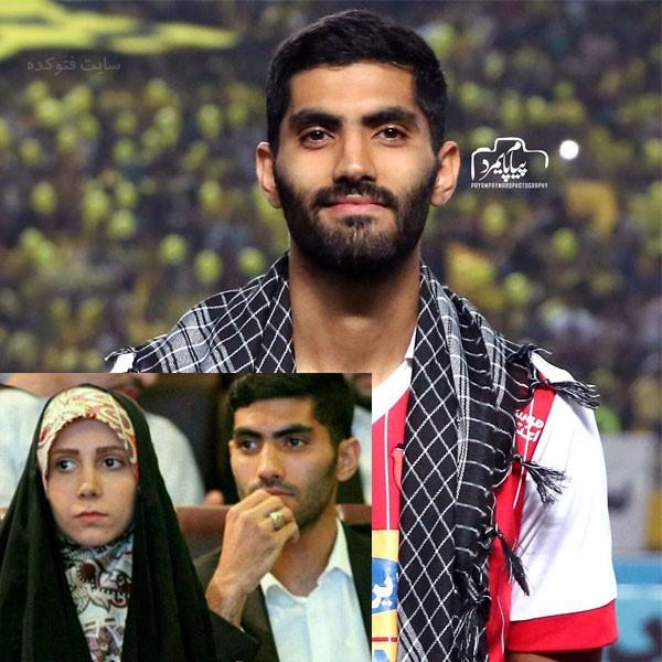 محمد انصاری و همسرش + زندگی شخصی فوتبالی