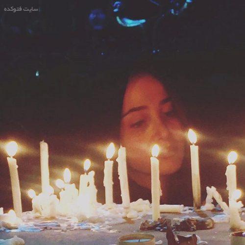 عکس الناز حبیبی در شام غریبان