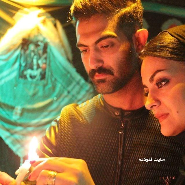 عکس لیلا ایرانی و همسرش در شام غریبان