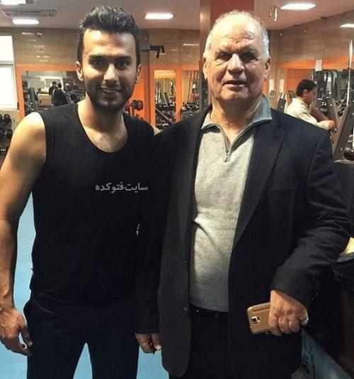 عکس محمدحسین میثاقی در باشگاه بدنسازی لو رفته