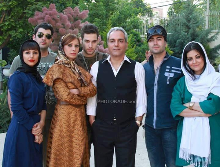 عکس پشت صحنه سریال ویلای من و مهران مدیری