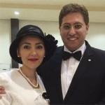 مهسا کرامتی در عروسی با عکس همسر