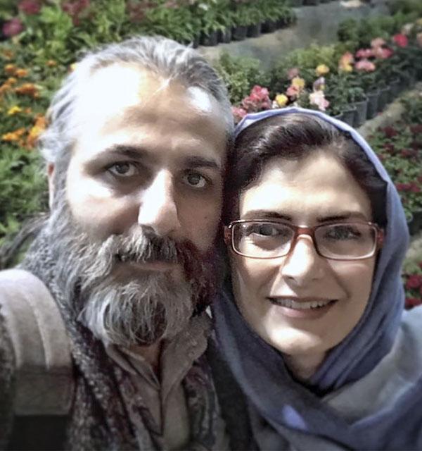 عکسمهسا ملک مرزبان و همسرش علی باقری