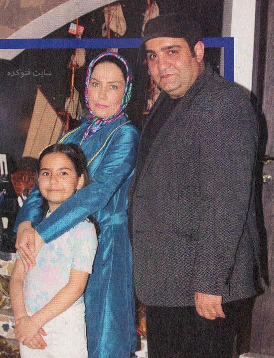 عکس میرطاهر مظلومی و همسرش شهلا مقدم و دخترش ستایش