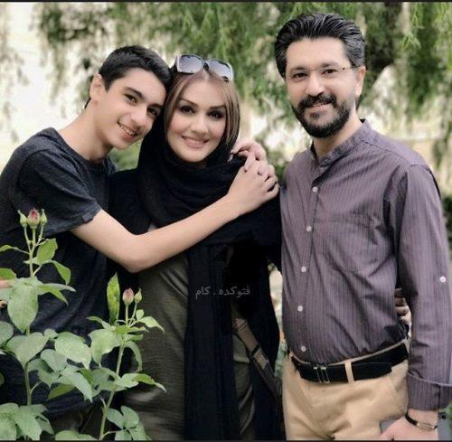 عکس امیرحسین مدرس و همسرش بهار بهاردوست و پسرش ایلیا