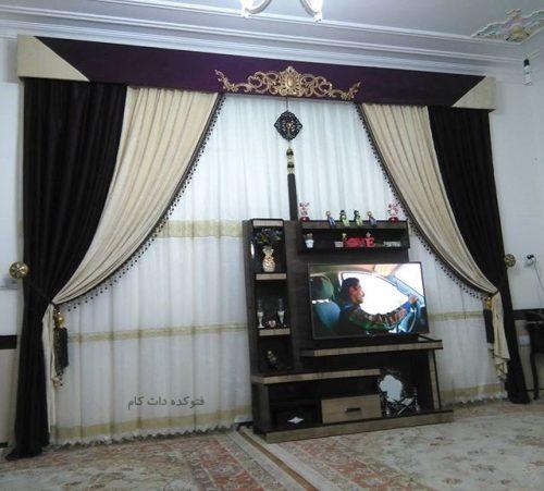 طرح جدید پرده ساده و شیک منازل ایرانی