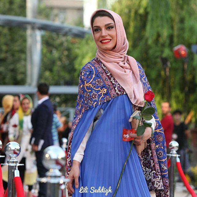 عکس مدل لباس الیکا عبدالرازقی در جشنواره حافظ 95