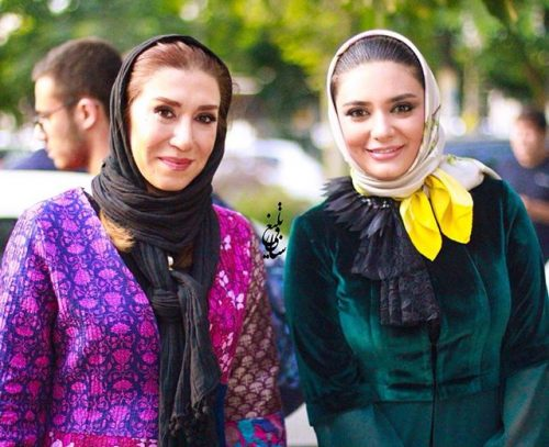 عکس مدل لباس لیندا کیانی و نسیم ادبی در جشنواره حافظ 95
