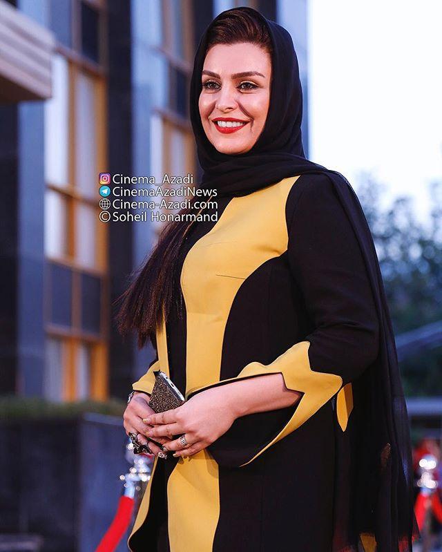 عکس مدل لباس ماه چهره خلیلی در جشنواره حافظ 95