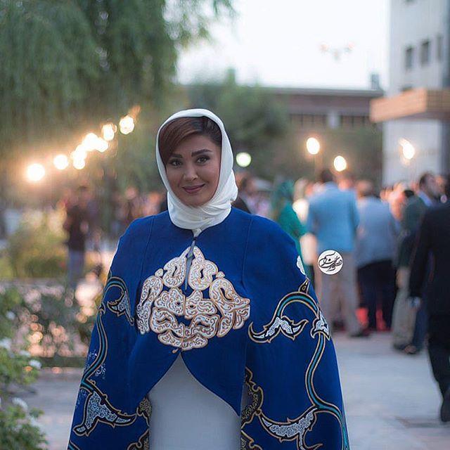عکس مدل لباس مریم معصومی در جشنواره حافظ 95