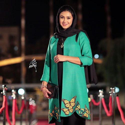 عکس مدل لباس آزاده صمدی در جشنواره حافظ 95