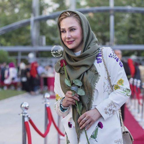 عکس مدل لباس انا نعمتی در جشنواره حافظ 95