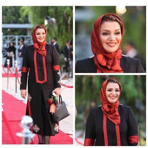 عکس مدل لباس الهام پاوه نژاد در جشنواره حافظ 95