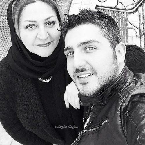 عکس محمدرضا غفاری و مادرش