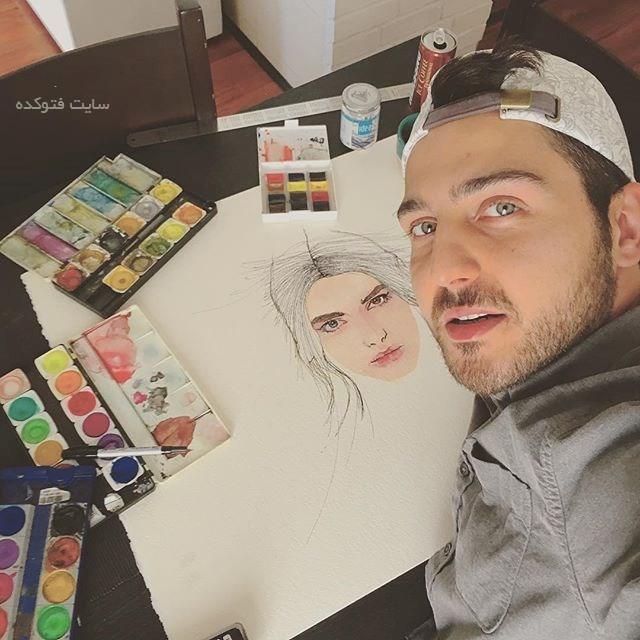 محمدرضا غفاری از بازیگری تا نقاشی