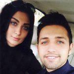 محسن افشانی و همسرش + جنجال اجرا در ماه عسل