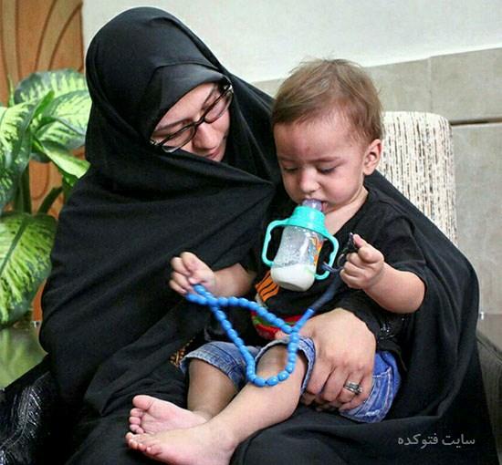 عکس زهرا عباسی همسر محسن حججی + بیوگرافی کامل