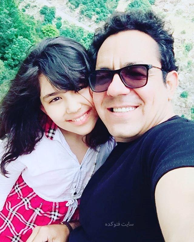 عکس محسن میرزازاده و دخترش ریحانه + بیوگرافی