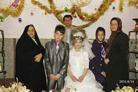 ازدواج محسن و مریم 13 ساله با عکس,عکس محسن و مریم,ازدواج جنجالی دو بچه 13 ساله در ایران,عکس عقد دو نوجوان 13 ساله در ایران,عروس و داماد 13 ساله در ایران