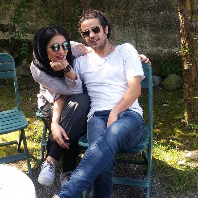 عکس مجتبی پیرزاده و همسرش فرزانه تفرشی