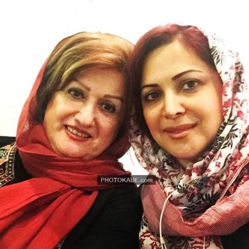 عکس کمند امیرسلیمانی و مادر
