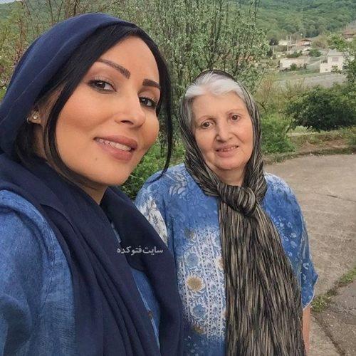 عکس پرستو صالحی و مادرش