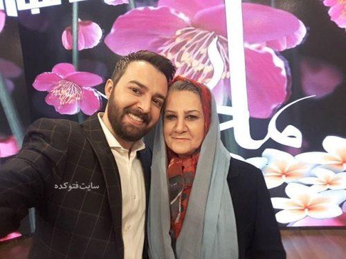 عکس محمودرضا قدیران و مادرش