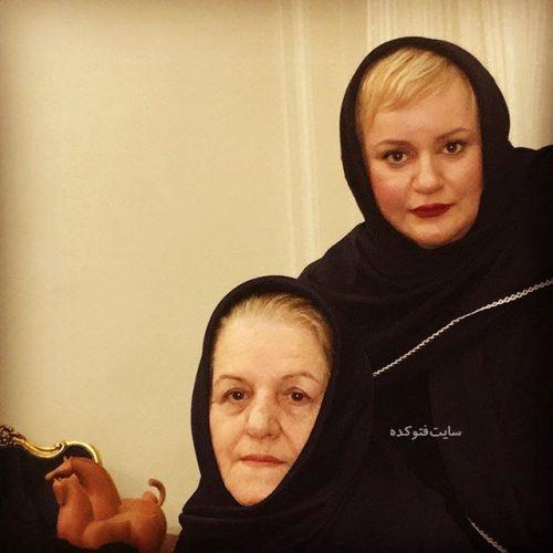 عکس نعیمه نظام دوست و مادرش