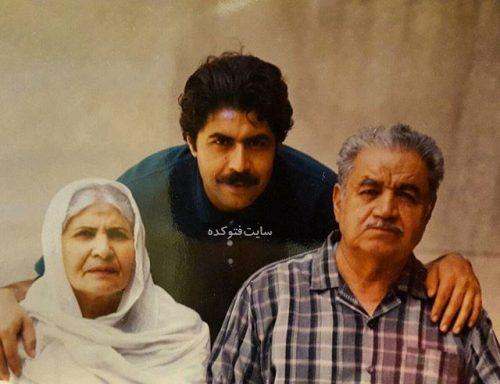 عکس فرهاد اصلانی و مادرش و پدرش