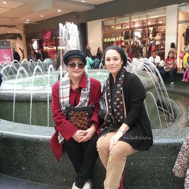 عکس مریم امیرجلالی و دخترش هدیه در خارج