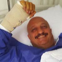 عکس مسعود روشن پژوه در بیمارستان