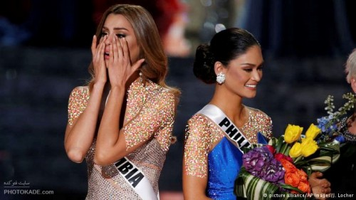 جنجال تاجگذاری اشتباه در مراسم ملکه زیبایی 2015,عکس های مراسم ملکه زیبایی 2015,سوتی وحشتناک در مراسم انتخاب ملکه زیبایی 2015,اشتباهی بزرگ در مراسم ملکه زیبایی 2015