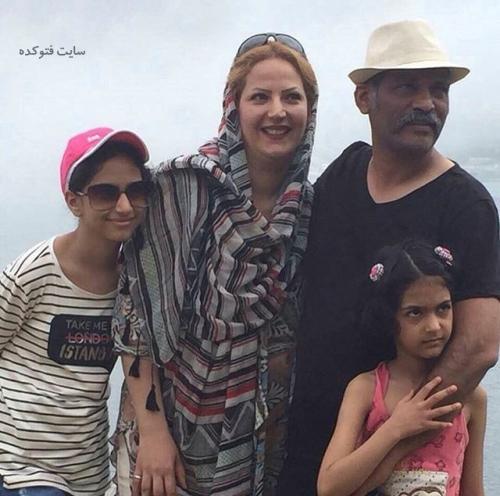عکس خانوادگی نادر فلاح + زندگینامه شخصی
