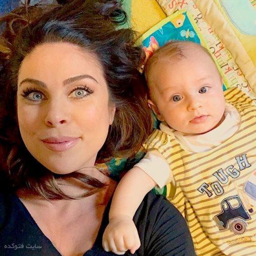 نادیا بیورلین و پسرش