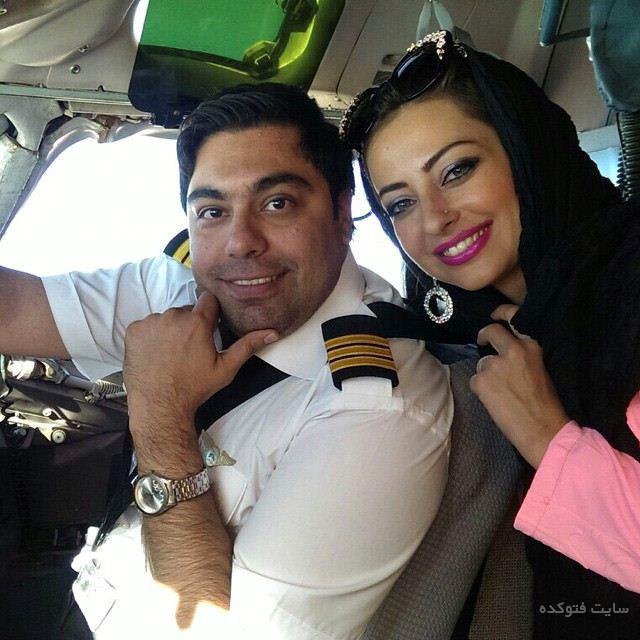عکس نفیسه روشن Nafiseh Roshan و همسرش خلبان بهنام