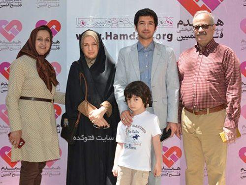 نجم الدین شریعتی و همسرش